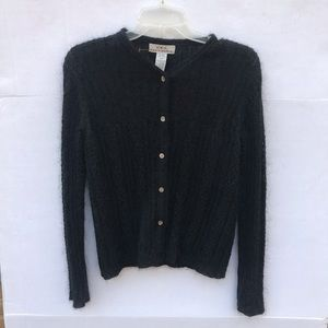 Eddie Bauer Mohair/Wool Blend Cardigan Size Small
